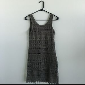🎀H&M Divided Dark Olive Green Lace Tank Dress